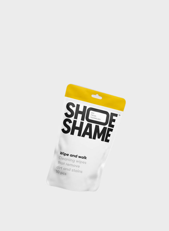 SHOESHAME WIPE AND WALK, WHITE, medium