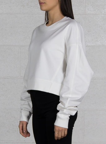 FELPA YOHJI LOVE CREW SWEATER, COREWHITE, small