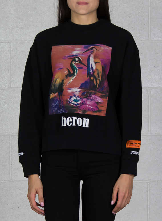 FELPA PRINTED CREWNECK, BLACK/MULTI, medium