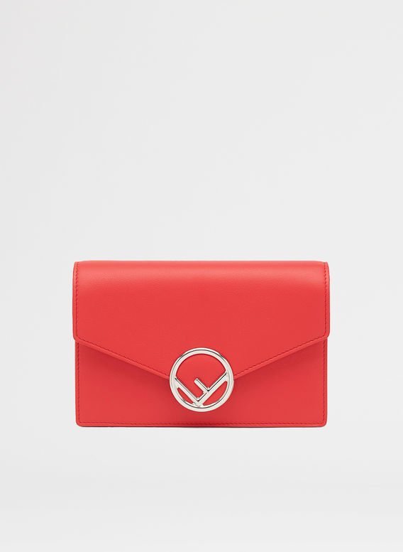 BORSA WALLET ON CHAIN, F0Y77ROSSO, medium