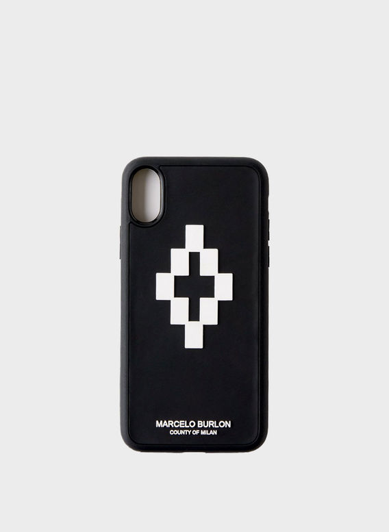 COVER 3D CROSS IPHONE X CASE, BLACK/WHITE, medium