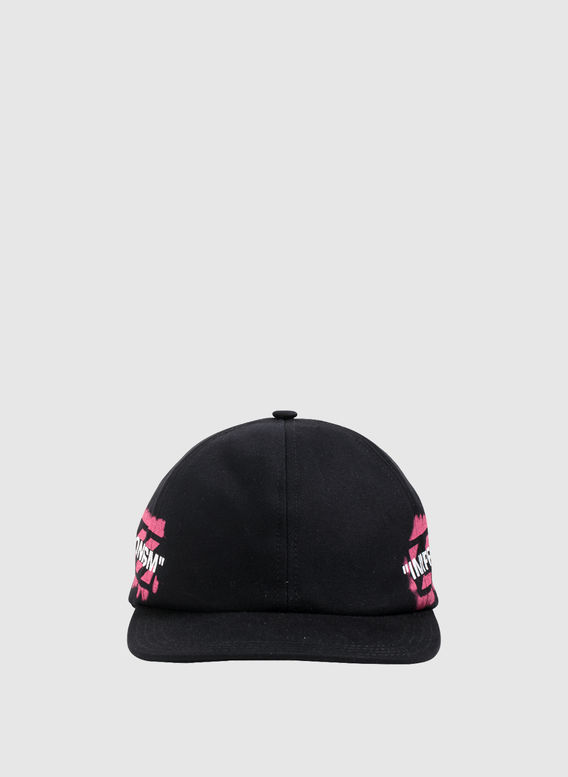CAPPELLO STENCIL BASEBALL, BLACK/FUCHSIA, medium