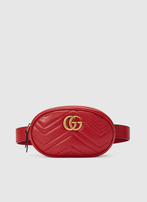 MARSUPIO GG MARMONT IN PELLE MATELASSÉ, 6433RED, medium
