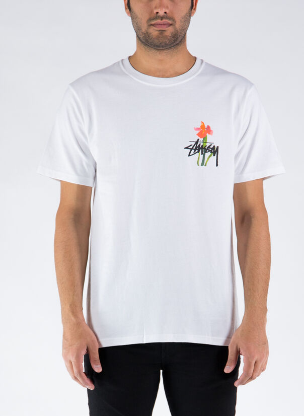 T-SHIRT WATER FLOWERS TEE, WHITE, large
