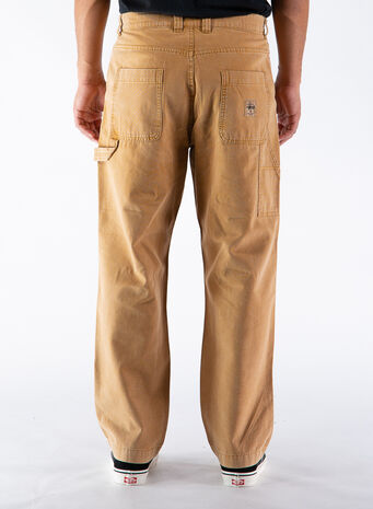 PANTALONE WASHED CANVAS WORK, GOLD, small
