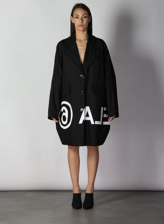 CAPPOTTO CON LOGO INVERTITO, 900BLACK, medium