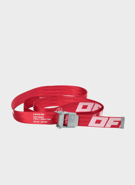 CINTURA 2.0 INDUSTRIAL BELT, RED/WHITE, medium