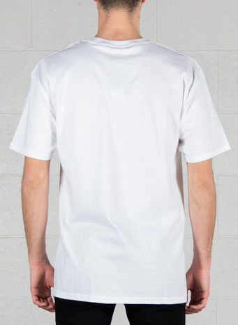 T-SHIRT OG LOGO RIPPED, WHITE, small