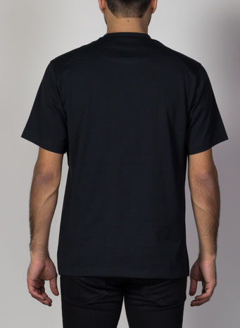 T-SHIRT FRONT LOGO, BLACK, small