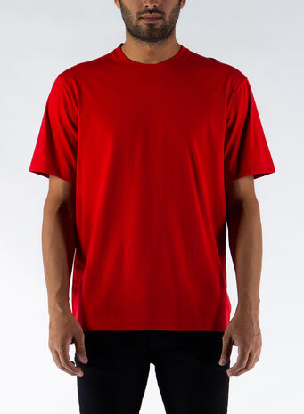 T-SHIRT BACK LOGO, SCARLET, small