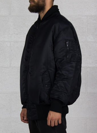 GIUBBOTTO OVERSIZED REVERSIBLE BOMBER, BLACK, small