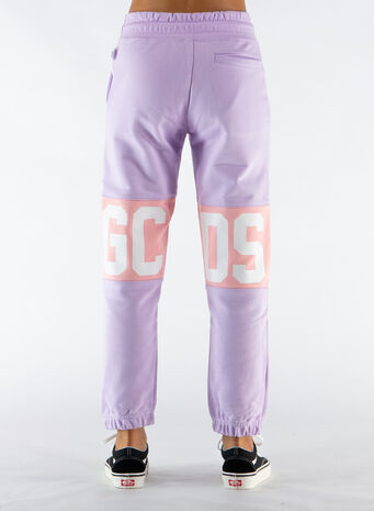 PANTALONE LOGO BAND, LILAC, small