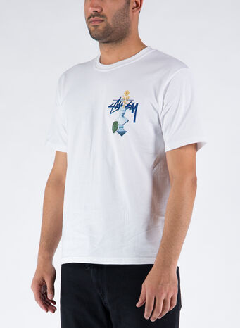 T-SHIRT PSYCHEDELIC, WHITE, small