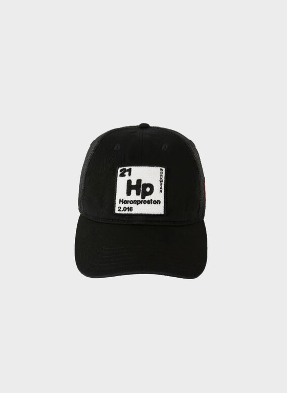 CAPPELLO PERIODIC LOGO TRUCKER HAT, 1001BLACKWHITE, medium