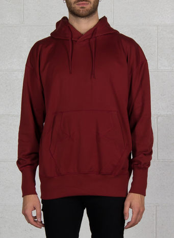 FELPA STACKED LOGO HOODIE, RUSTRED, small