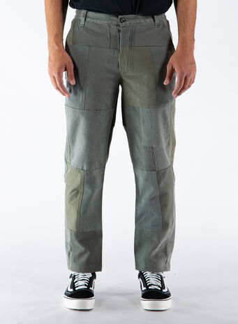 PANTALONE PATCHWORK, OLIVE, small
