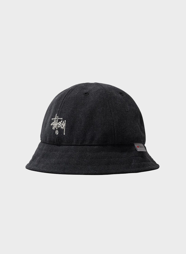 CAPPELLO THINSULATE CANVAS BELL HAT, BLACK, large