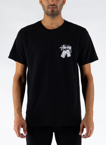 T-SHIRT DOMINOES, BLACK, small