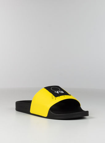 CIABBATTA Y-3 ADILETTE, YELLOW/BLACK/YELLOW, small