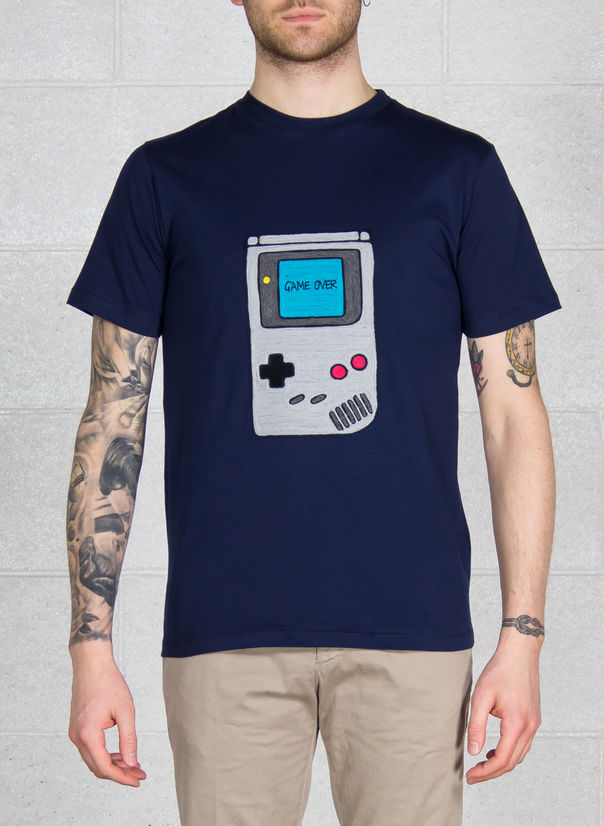 T-SHIRT VIDEOGIOCO, NAVY, large