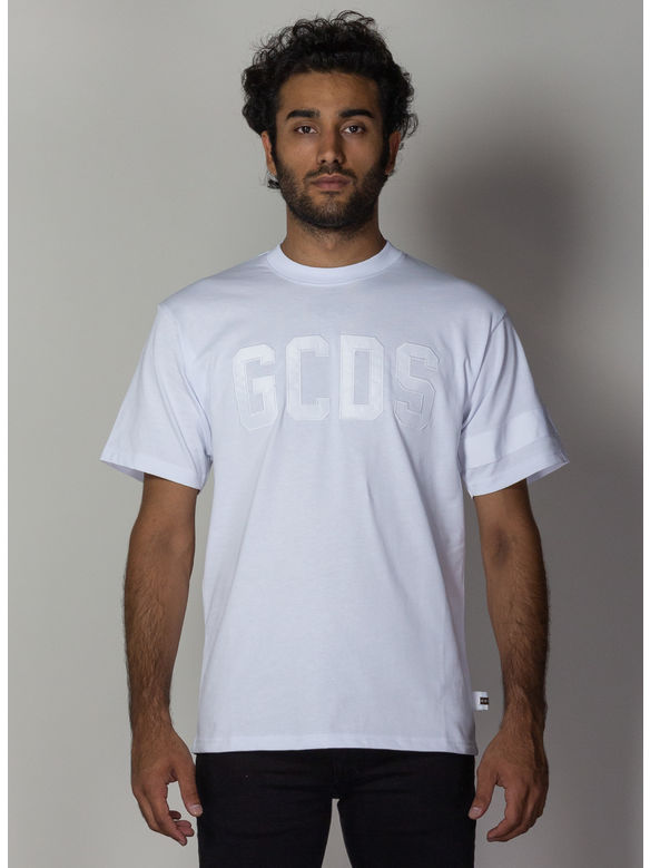 T-SHIRT LOGO, 01WHITE, medium