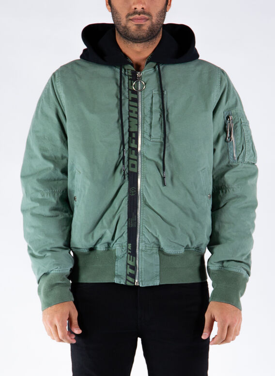 GIUBBOTTO ARROW VINTAGE BOMBER, 5910HEDGEGREENBLACK, medium