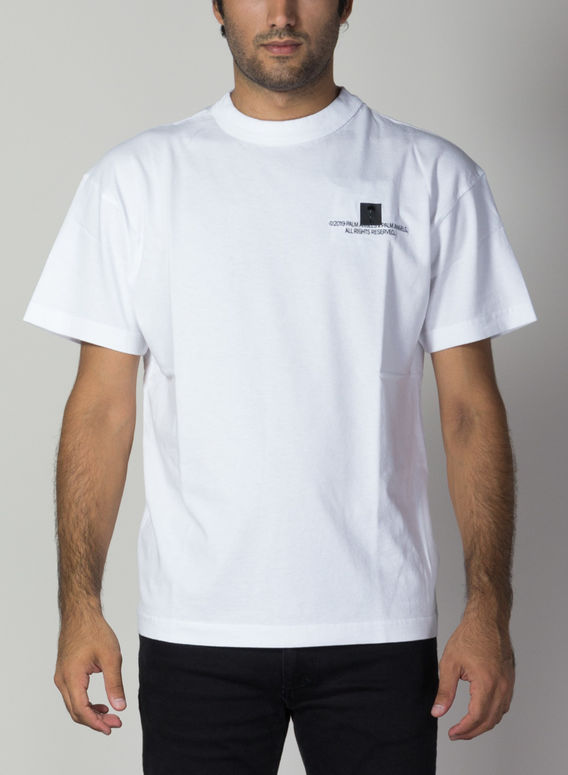 T-SHIRT PALM, WHITE/BLACK, medium
