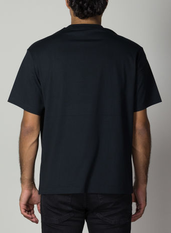 T-SHIRT STACKED LOGO, BLACK, small