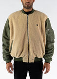 GIUBBOTTO CROSS BOMBER REVERSE, ARMY/BLACK, thumb