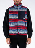 SMANICATO STRIPED SHERPA VEST, MULTI, thumb