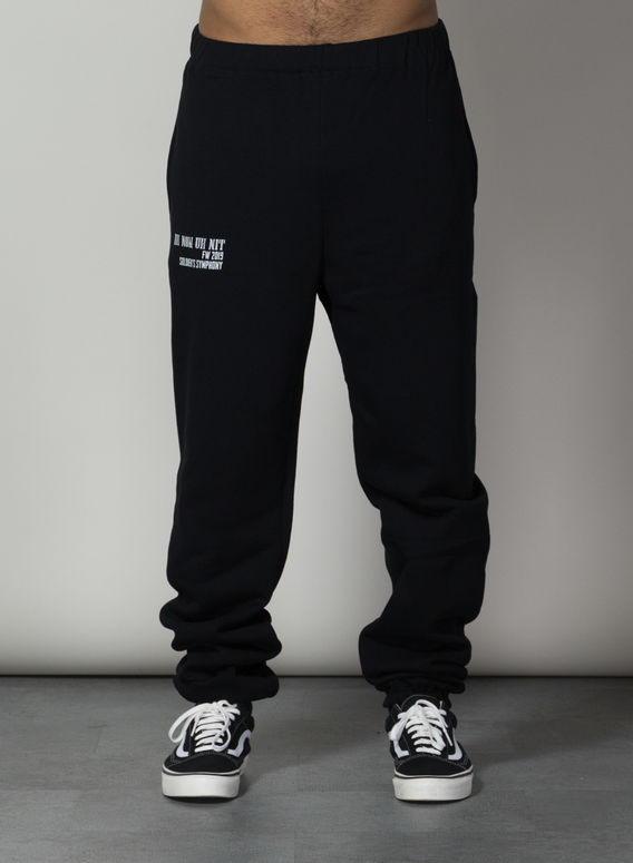 PANTALONE SWEATPANTS LOGO AND QUOTE, 009BLACK, medium