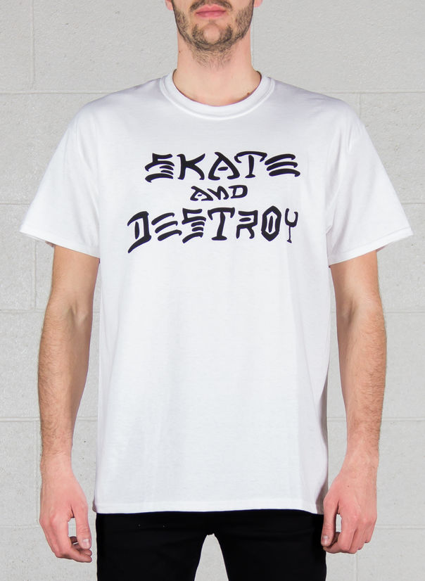 T-SHIRT SKATE AND DESTROY, GREY, large