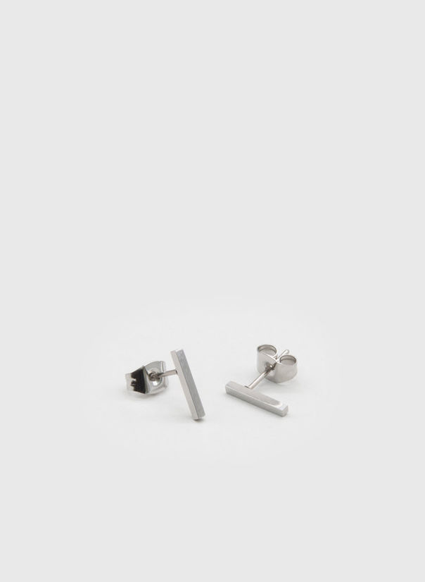 ORECCHINI KUKO EARRINGS BAR, SILVER, large