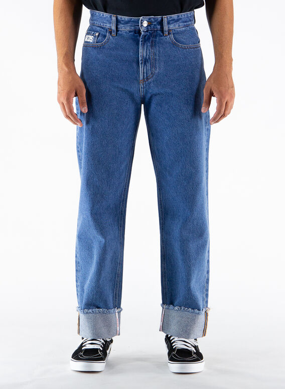 JEANS WIDE FIT DENIM, 07BLUE, medium
