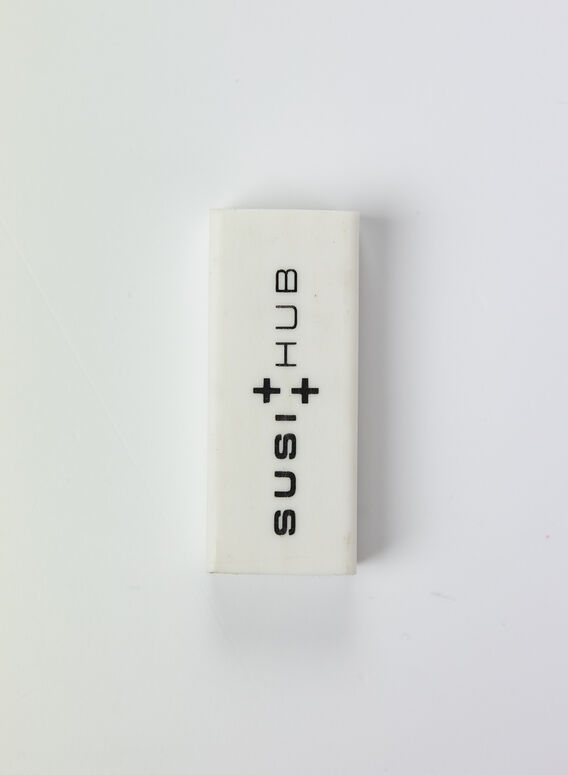 RUBBER ERASER, WHITE, medium