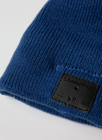CAPPELLO SOUNDAY BEANIE UNISEX, BLUE, small