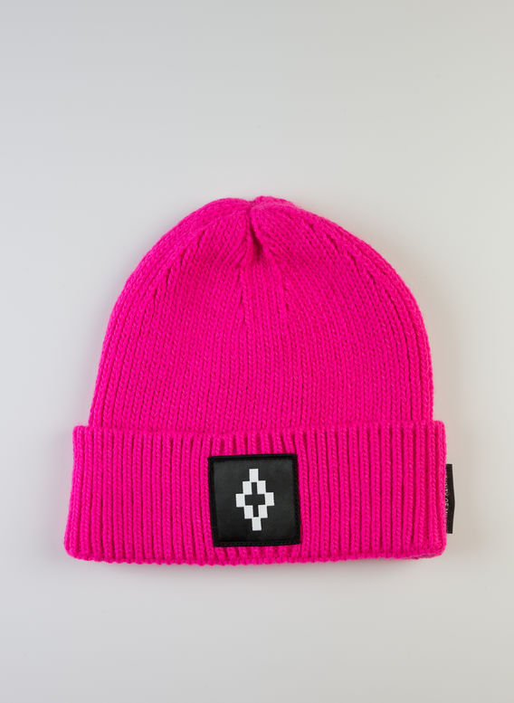 CAPPELLO COUNTY LOGO BEANIE, FUXIA/WHITE, medium