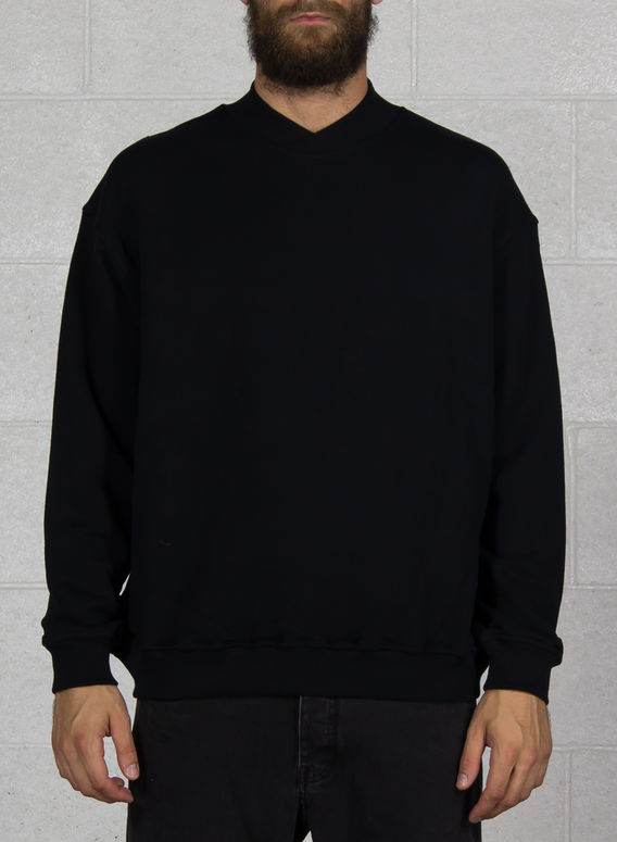 MAGLIONE CROSS NECK SWETER, BLACK, medium