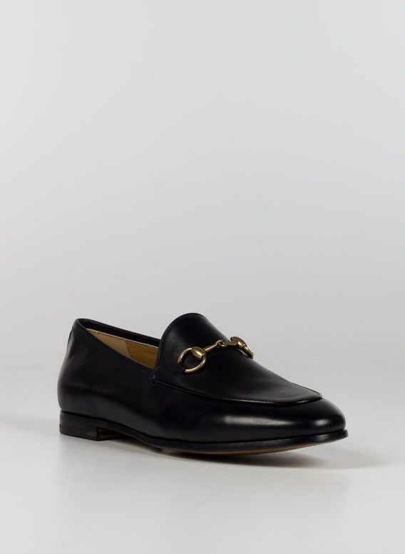 MOCASSINO GUCCI JORDAAN IN PELLE, 1000NERO, medium