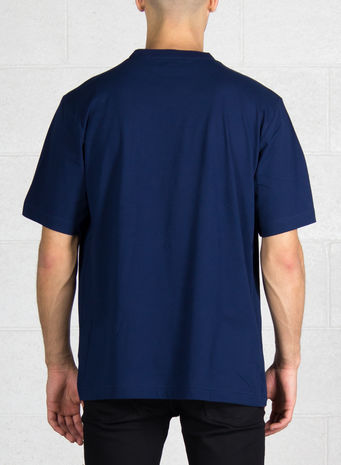 T-SHIRT STACKED LOGO, NIGHTINDIGO, small