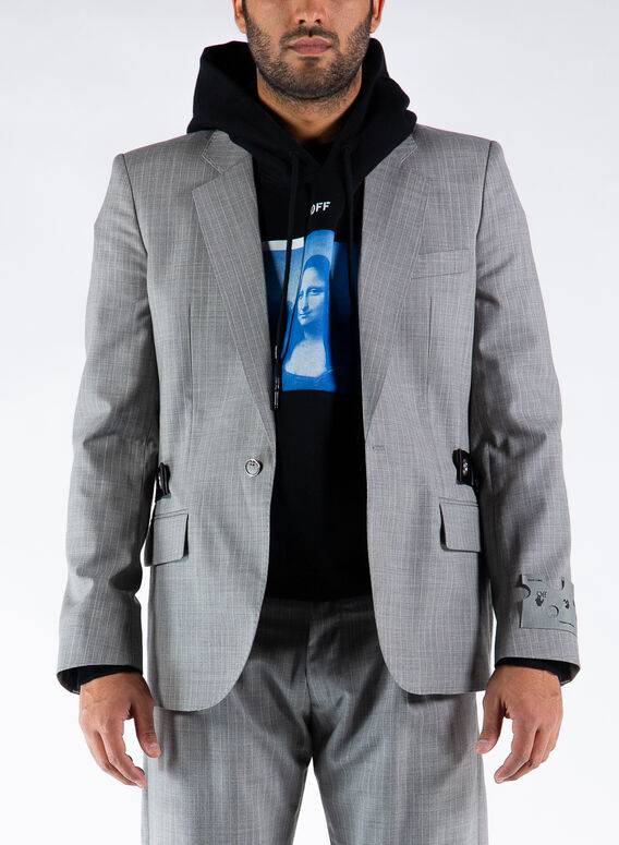 GIACCA UNFINISHED BLAZER, 0600LIGHTGREY, medium