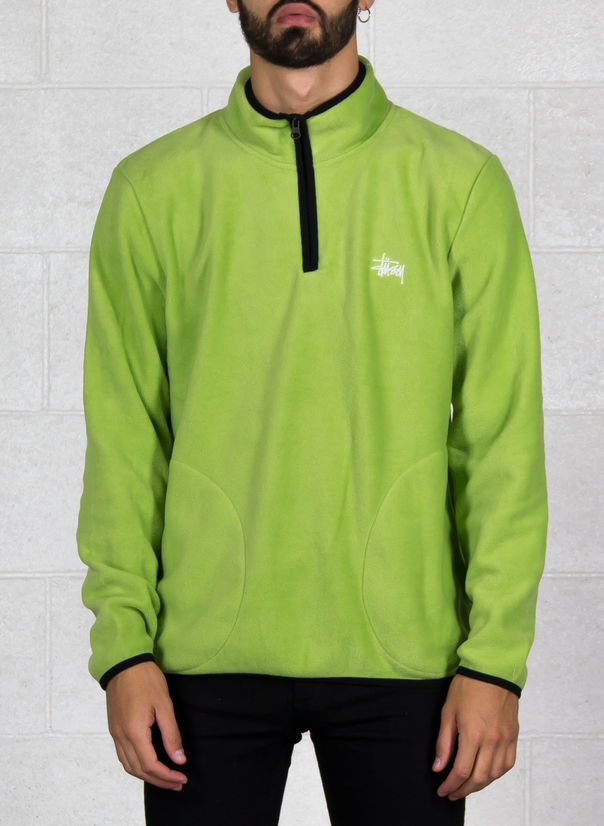 FELPA POLAR FLEECE HALF ZIP, LIME, large