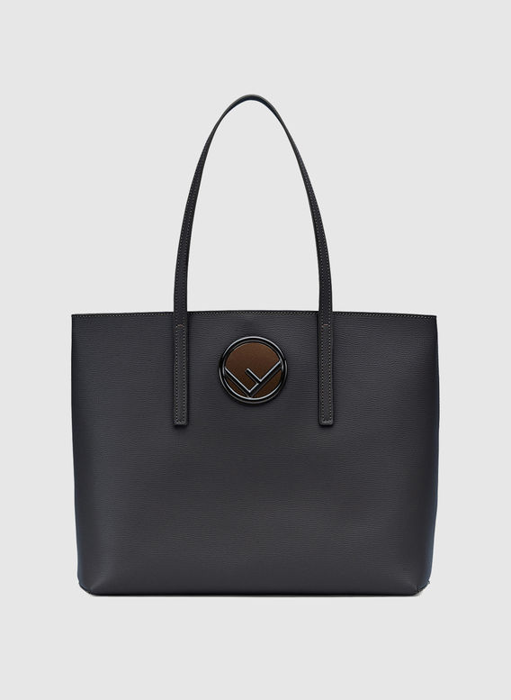 BORSA SHOPPING LOGO, F10FVNERO, medium