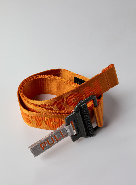 CINTURA TAPE BELT, ORANGE/MEDIUMGREY, medium