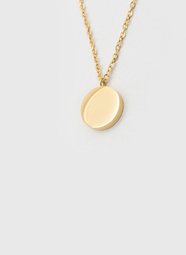 COLLANA KUKO NECKLACE CIRCLE, GOLD, large