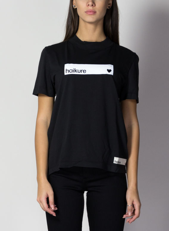 T-SHIRT MILA, T0360BLACK, medium