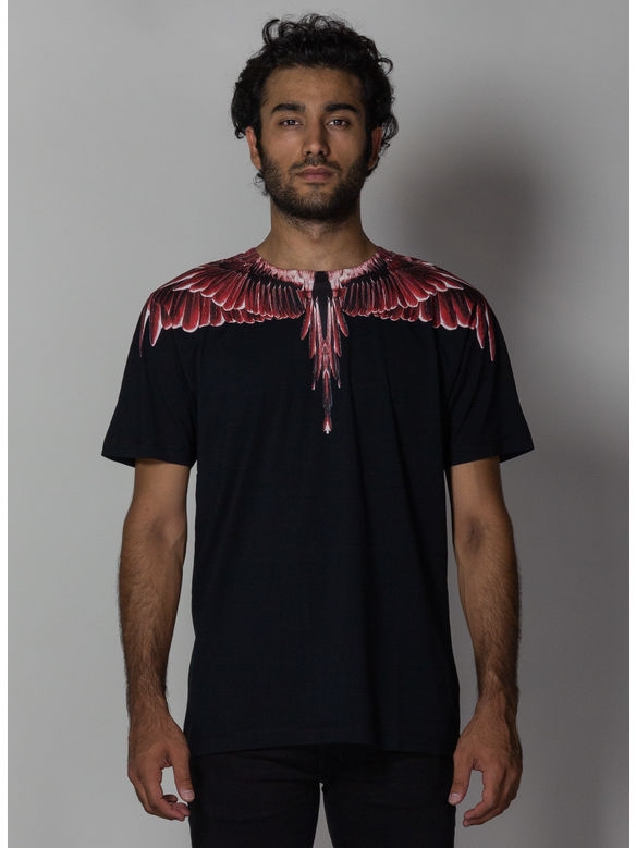 T-SHIRT RED GHOST WINGS, BLACK/MULTI, medium