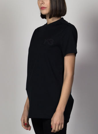 T-SHIRT FRONT LOGO SS TEE, BLACK, small