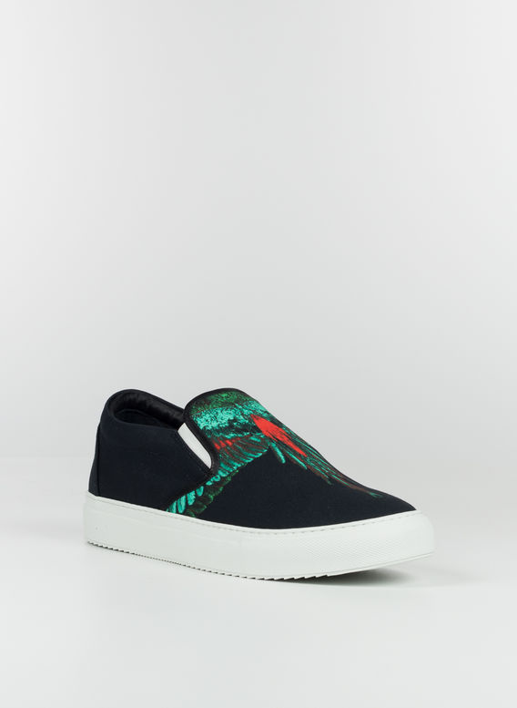 SCARPA GREEN WINGS SLIP-ON, BLACK/GREEN, medium