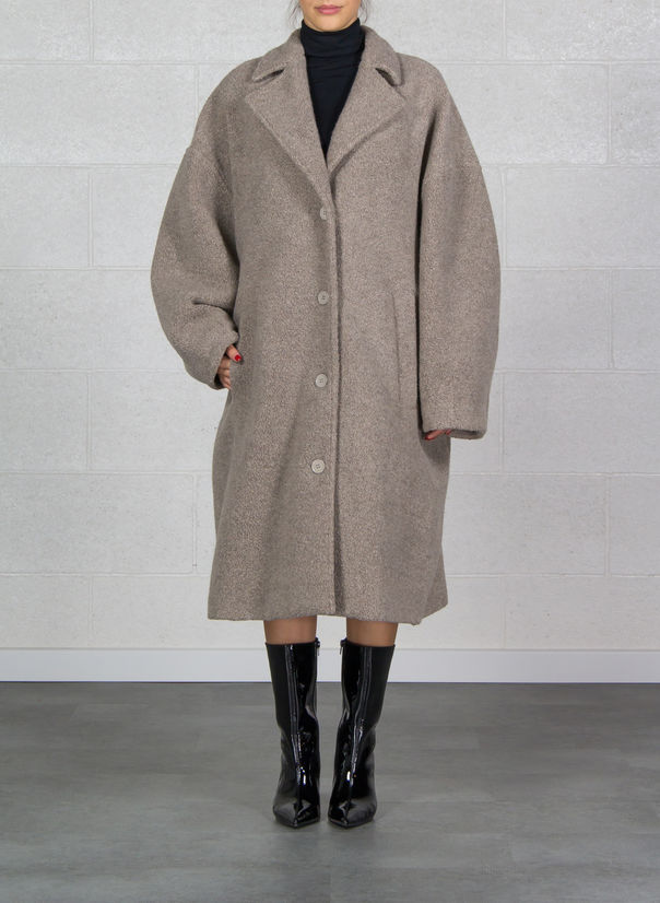 CAPPOTTO IN JERSEY A UOVO, 115TORTORA, large
